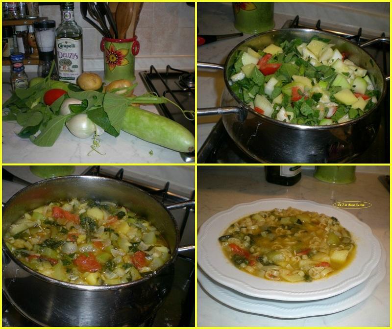 minestra con zucchina lunga Collage