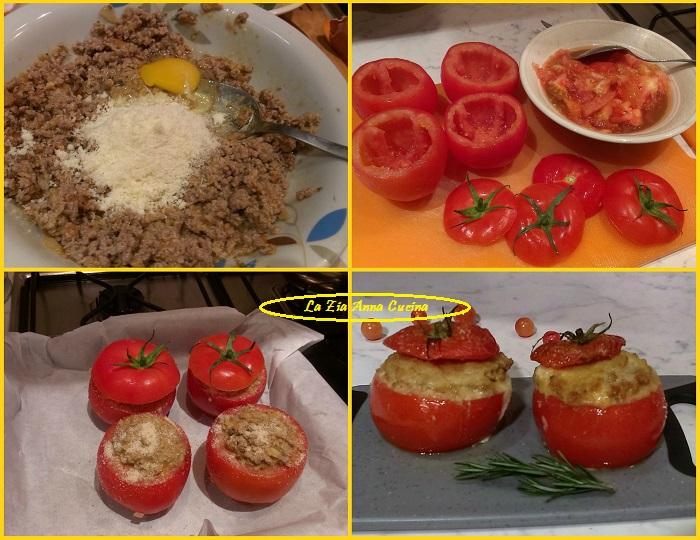 pomodori ripieni di carne Collage