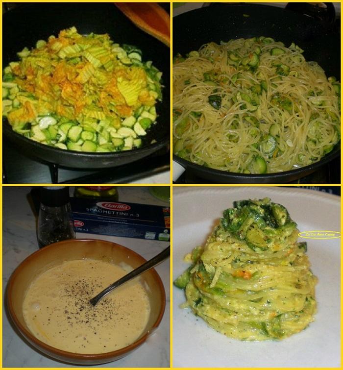 spaghetti alla carbonara di zucchine e i suoi fiori (2)