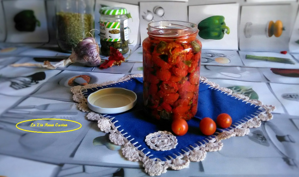 Pomodoro ciliegino confit sott'olio