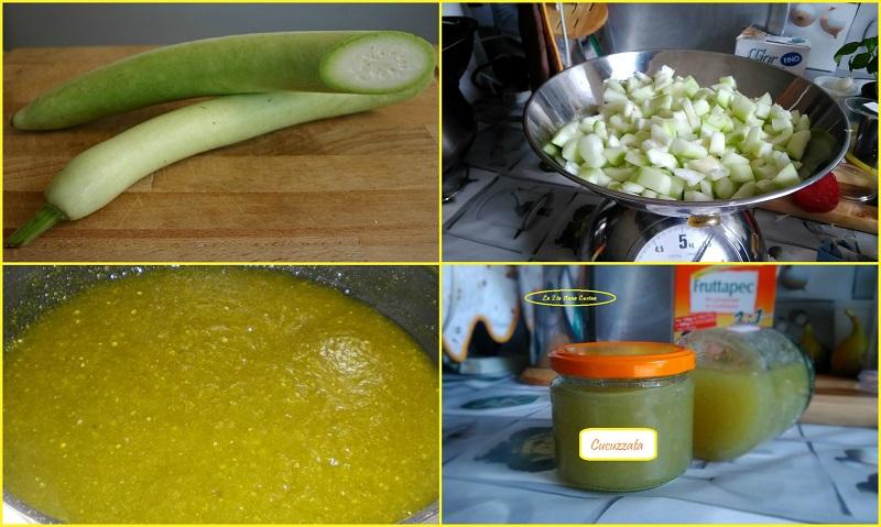 cucuzzata siciliana (marmellata di zucchine lunghe)Collage
