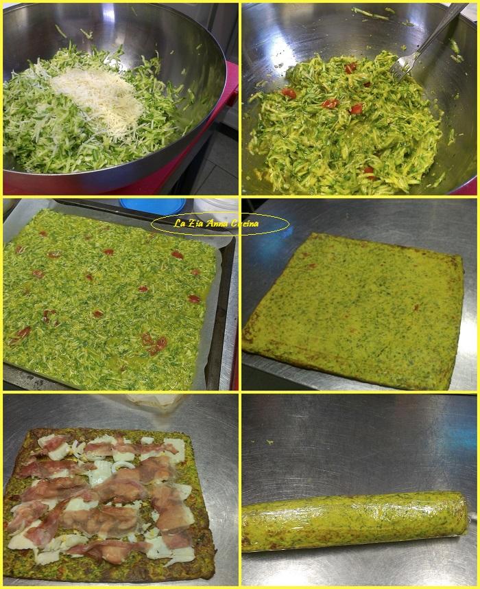 girelle di frittata alle zucchine   farcite collag
