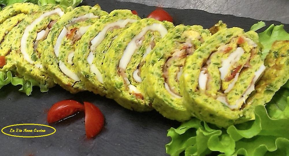 girelle di frittata alle zucchine  farcite