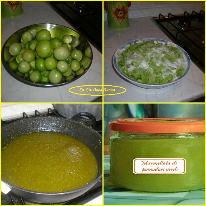 marmellata di pomodori verdi Collage