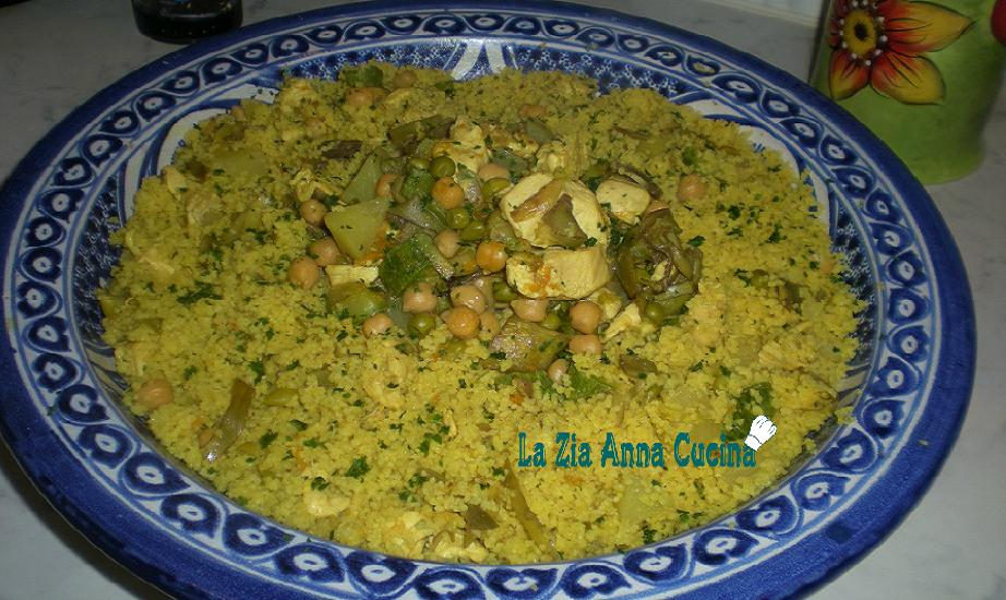 Cous cous alla marocchina con verdure e pollo