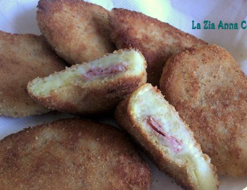 Sofficini di patate con prosciutto e mozzarella