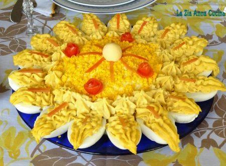 Girasole con uova sode farcite