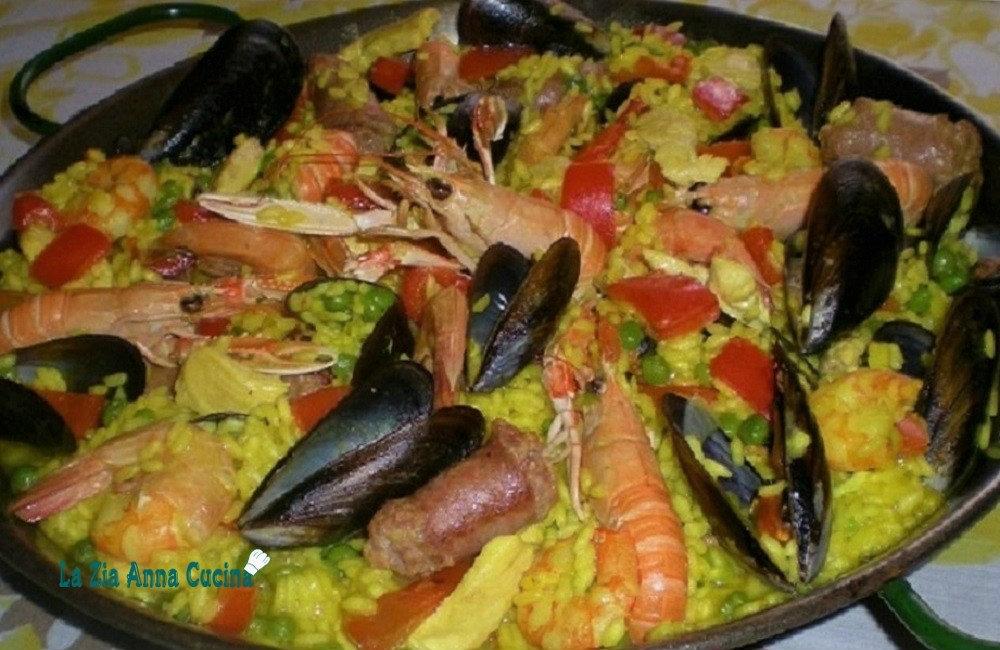 Paella Con Carne E Pesce La Zia Anna Cucina