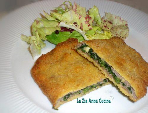 Cordon bleu con spinaci e fontina