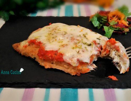 Cotolette di sgombro alla pizzaiola(cotte al forno)
