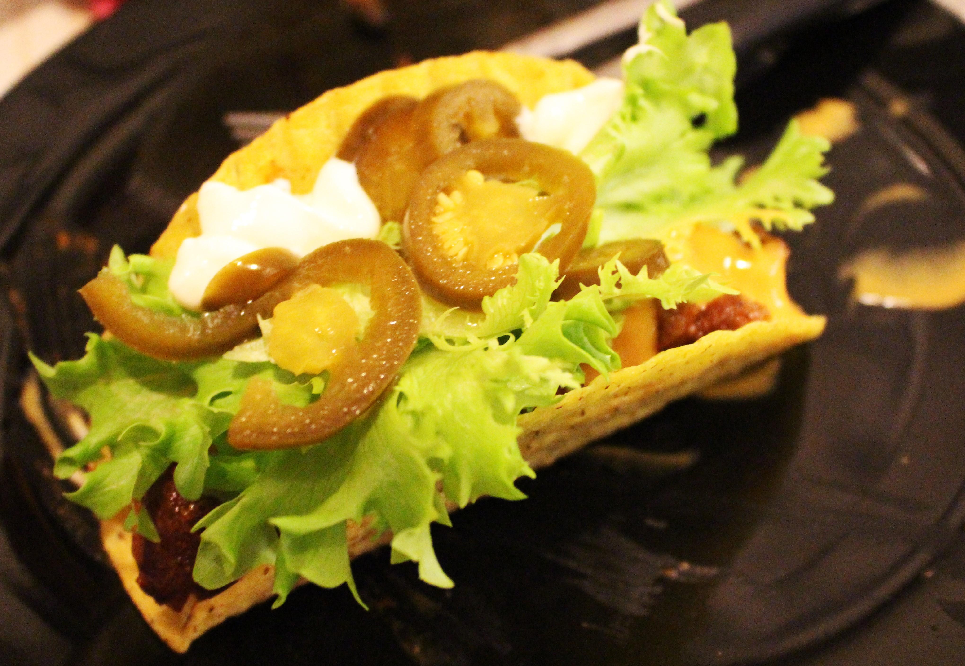 Tacos con Salsa di Carne Piccante