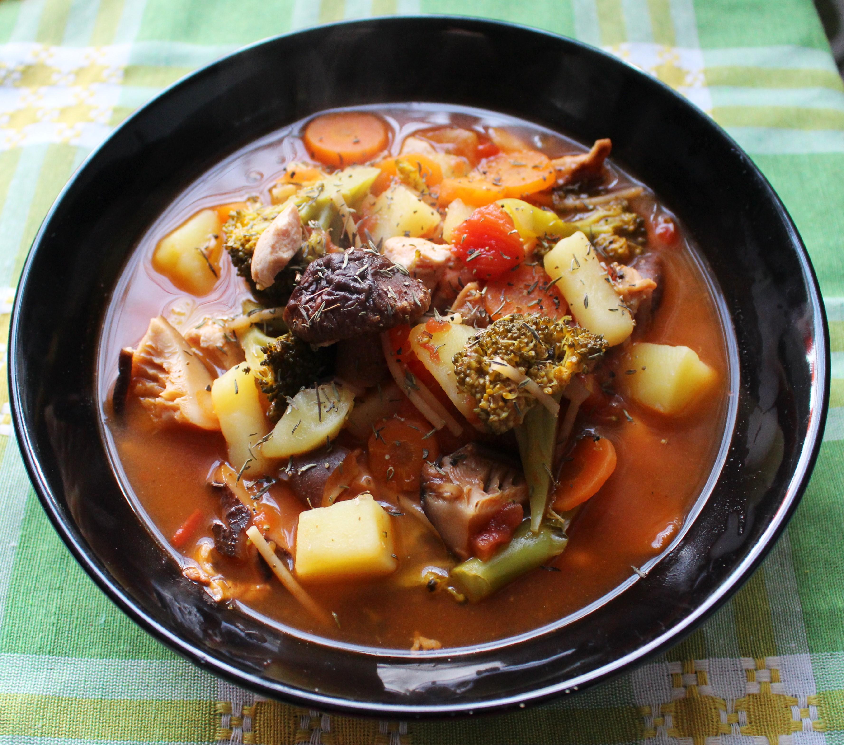 Zuppa Pollo e Pomodoro