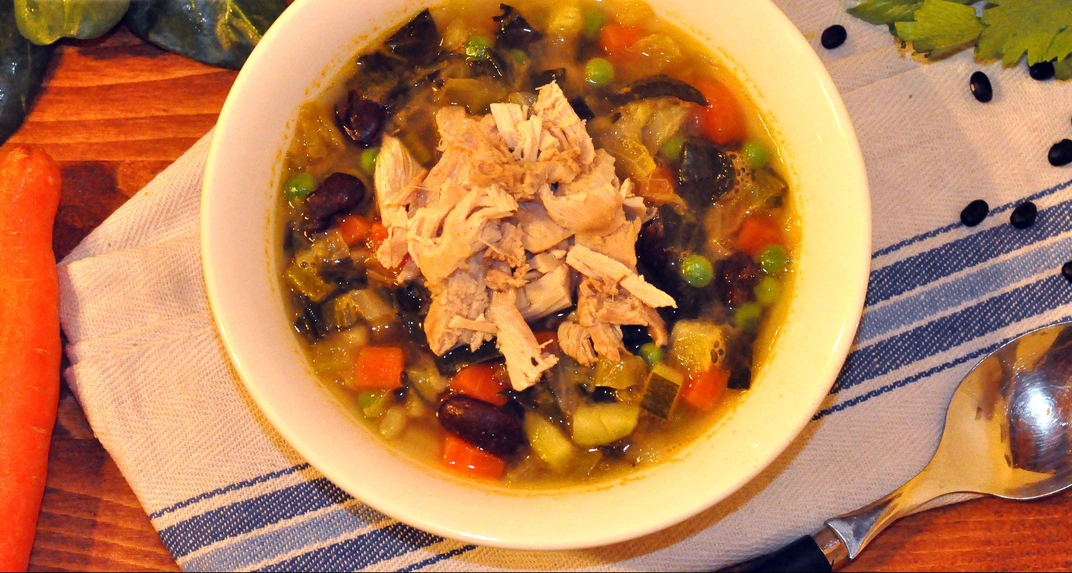 zuppa di calorie al pollo