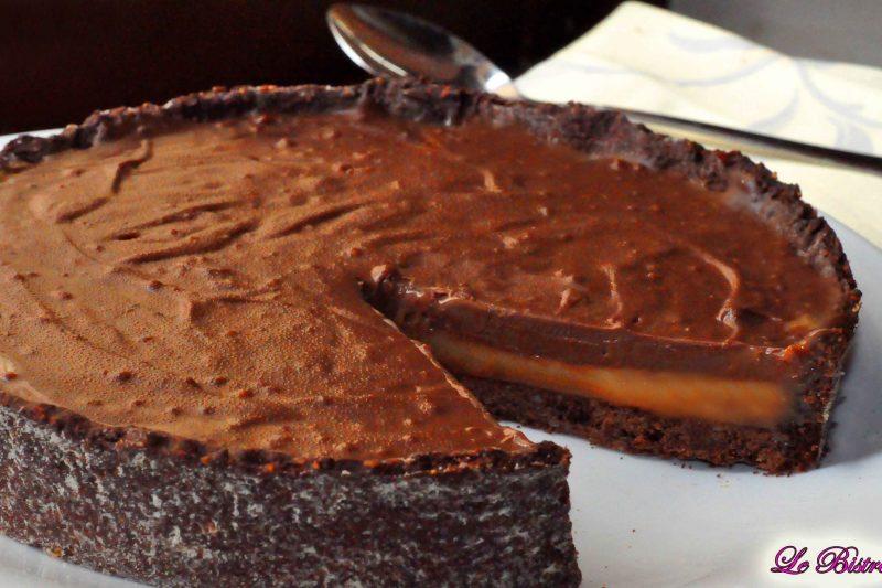 Torta alla crema mou e cioccolato al latte