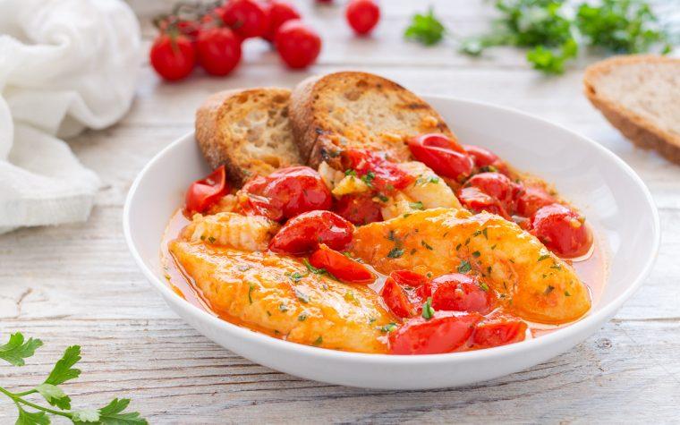 Filetti di merluzzo con pomodorini