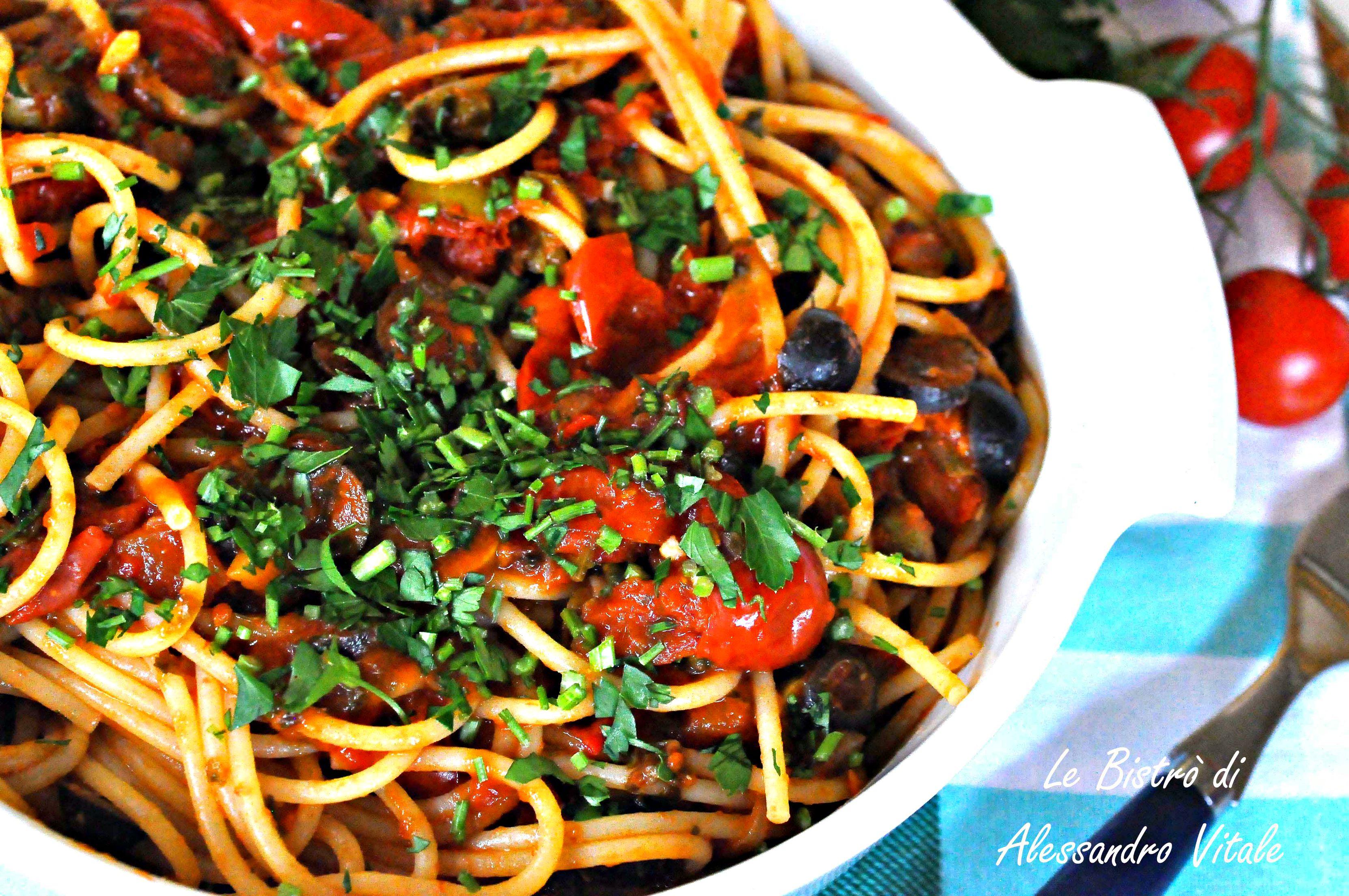 Spaghetti alla puttanesca, primo piatto