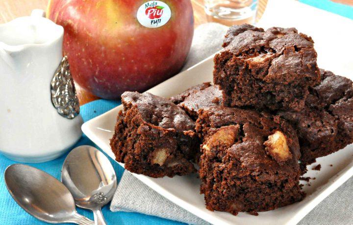 Brownie al cioccolato e mele