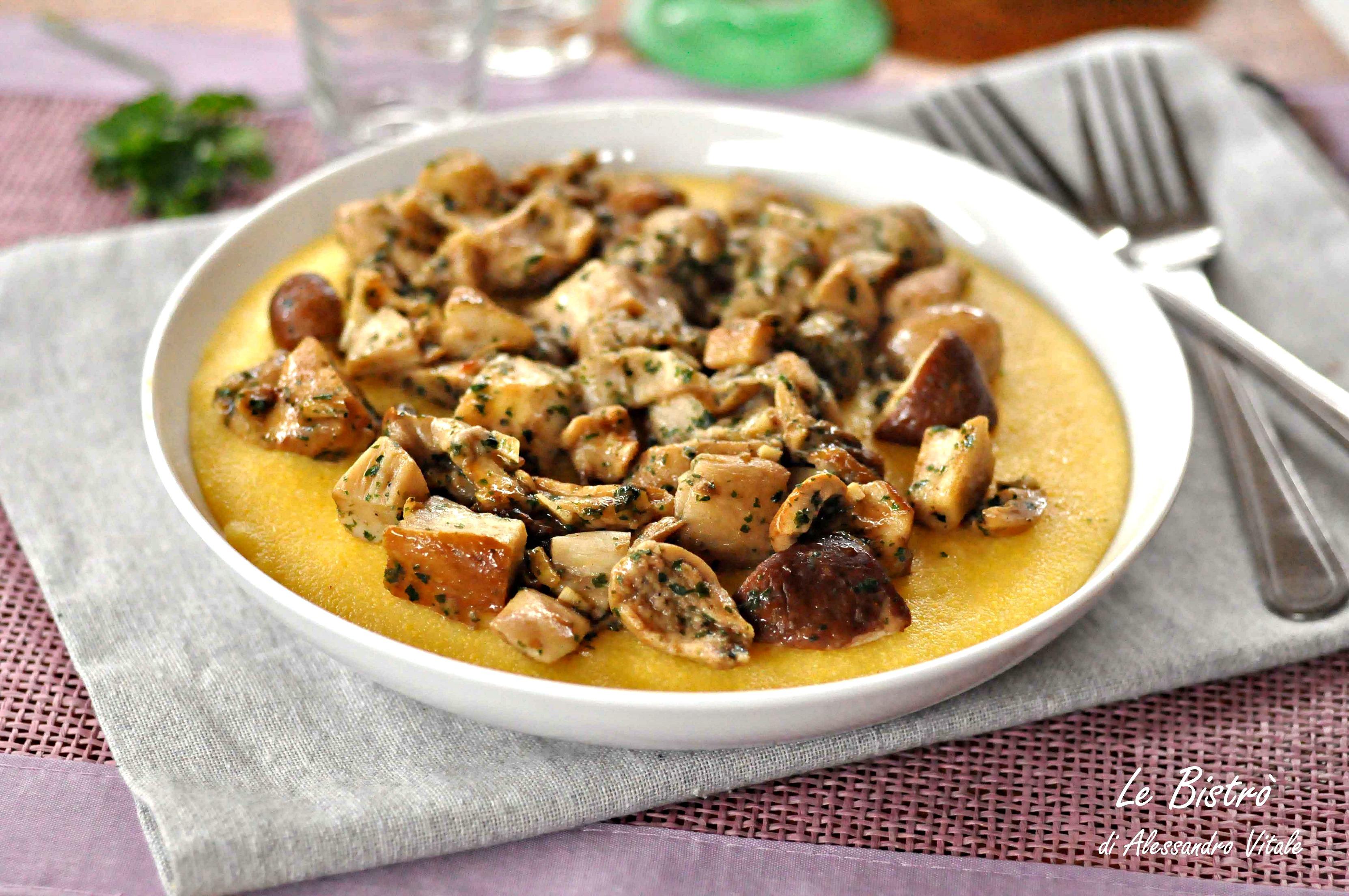 Polenta con funghi porcini, primo piatto