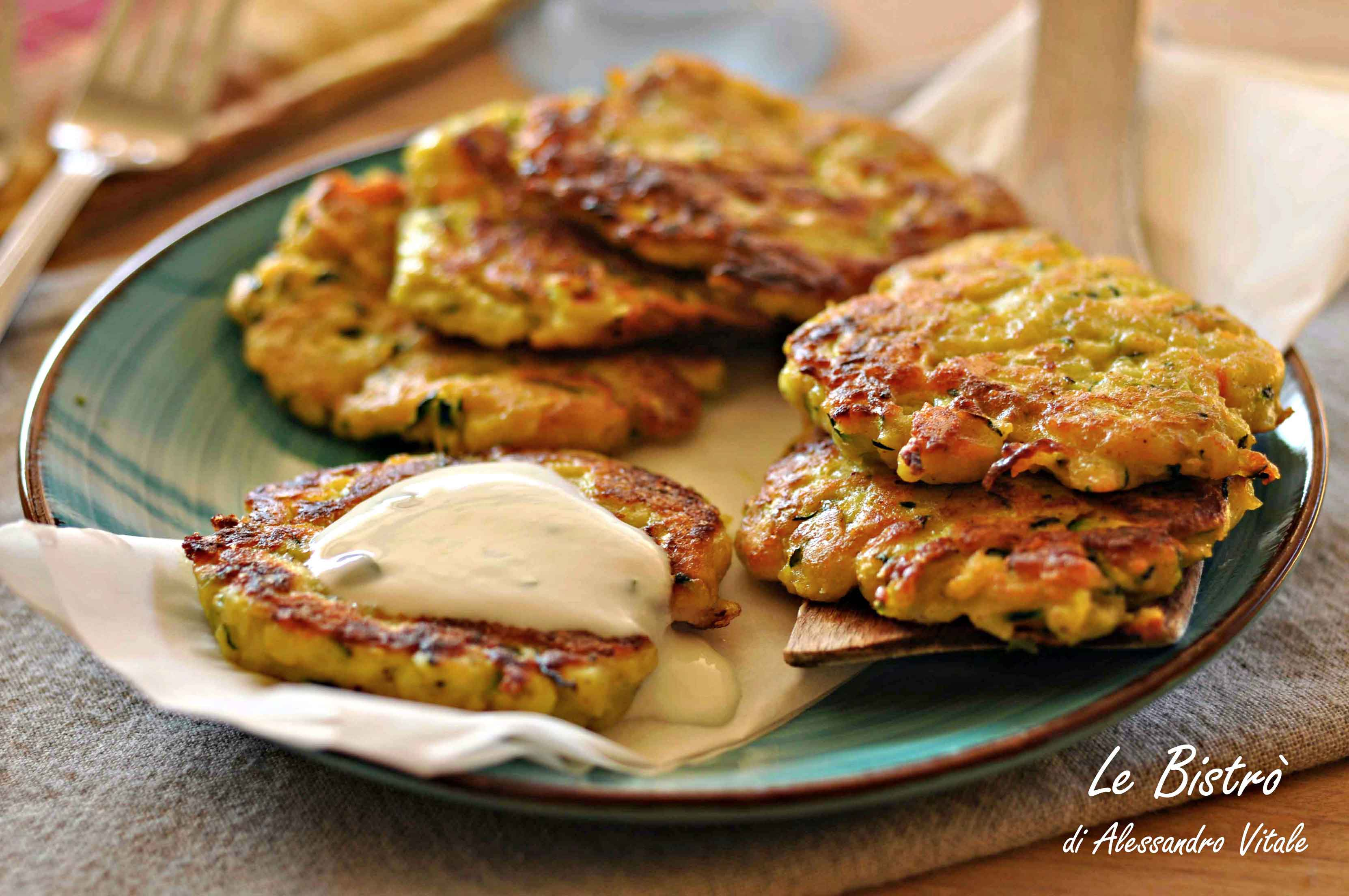 Rosti di zucchine patate e salmone for Ricette di cucina secondi piatti