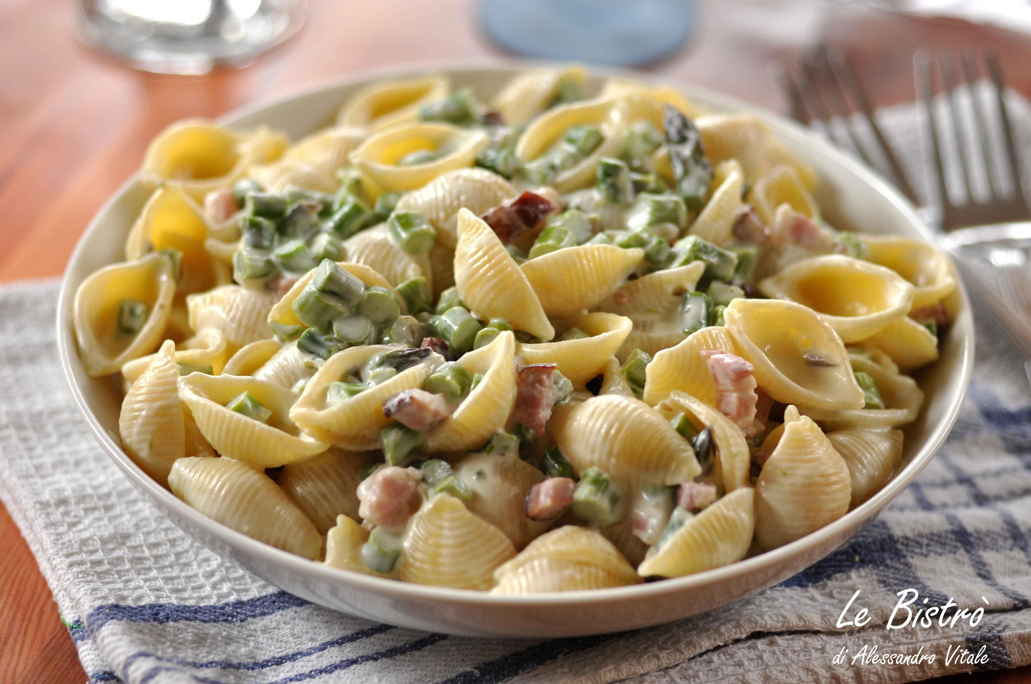 Pasta Cremosa con Asparagi e Pancetta