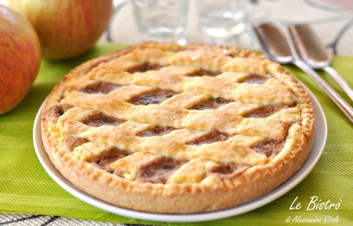 Crostata di mele ricotta e cioccolato