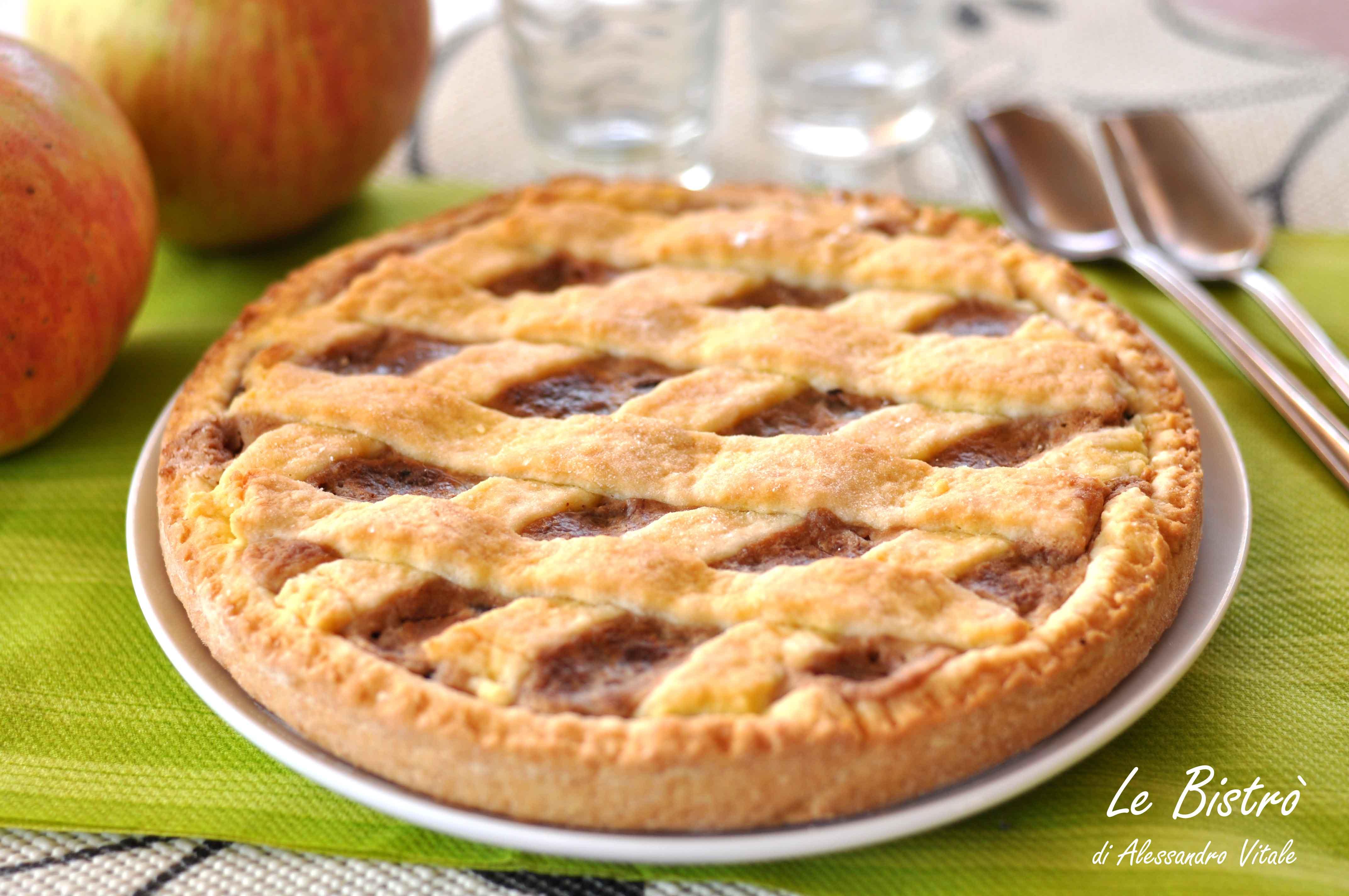 Crostata di mele ricotta e cioccolato for Crostata di mele