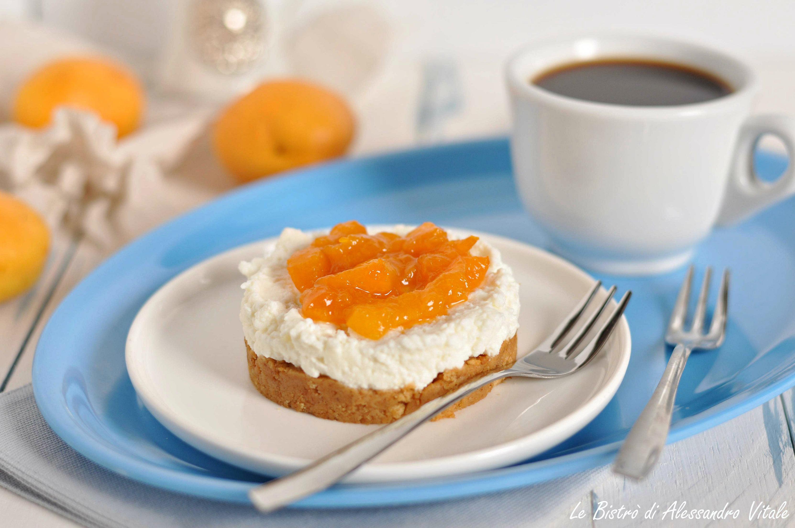 Mini cheesecake con ricotta e albicocche
