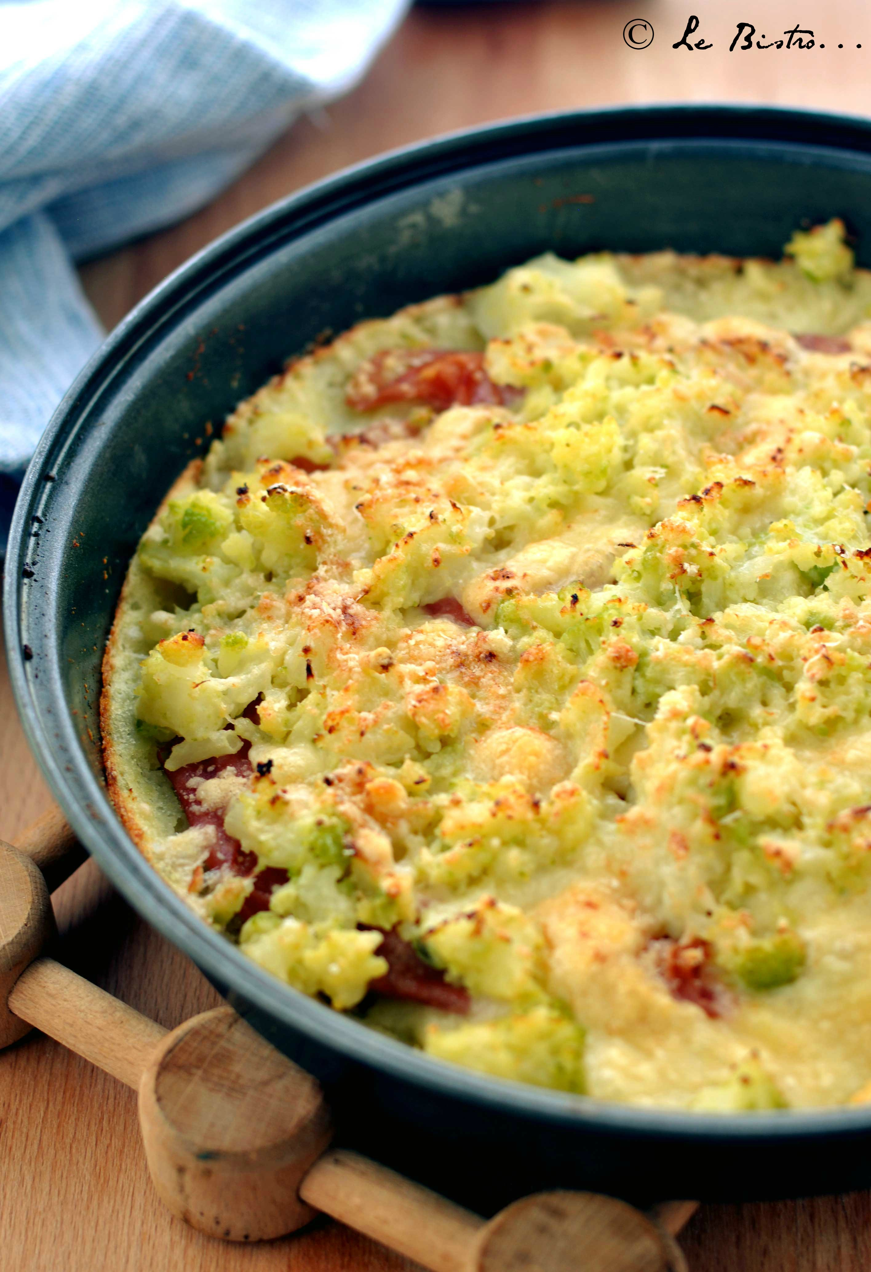 Sbriciolata di Patate con Broccoli e Prosciutto