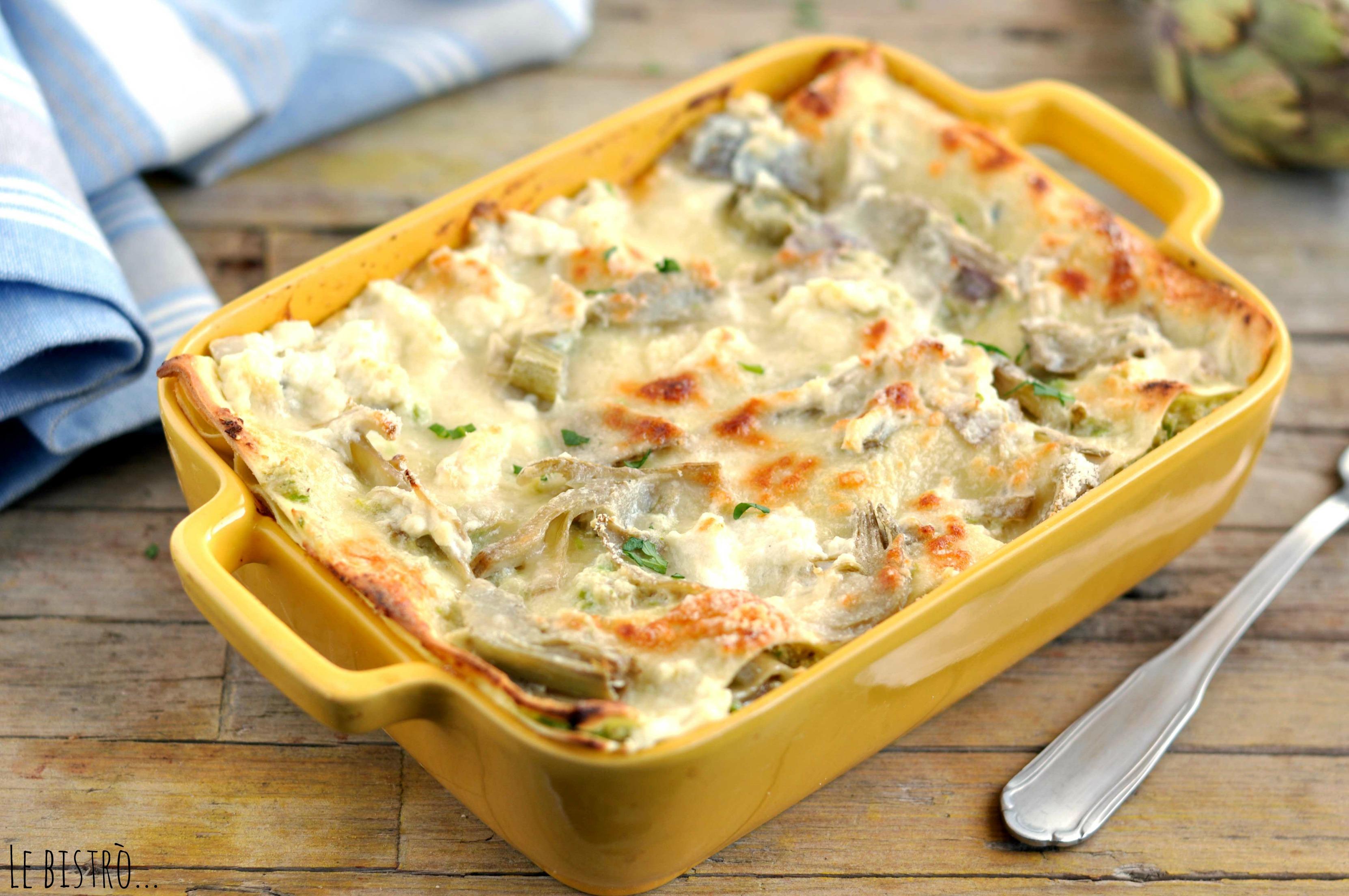 Lasagne di Carciofi e Ricotta