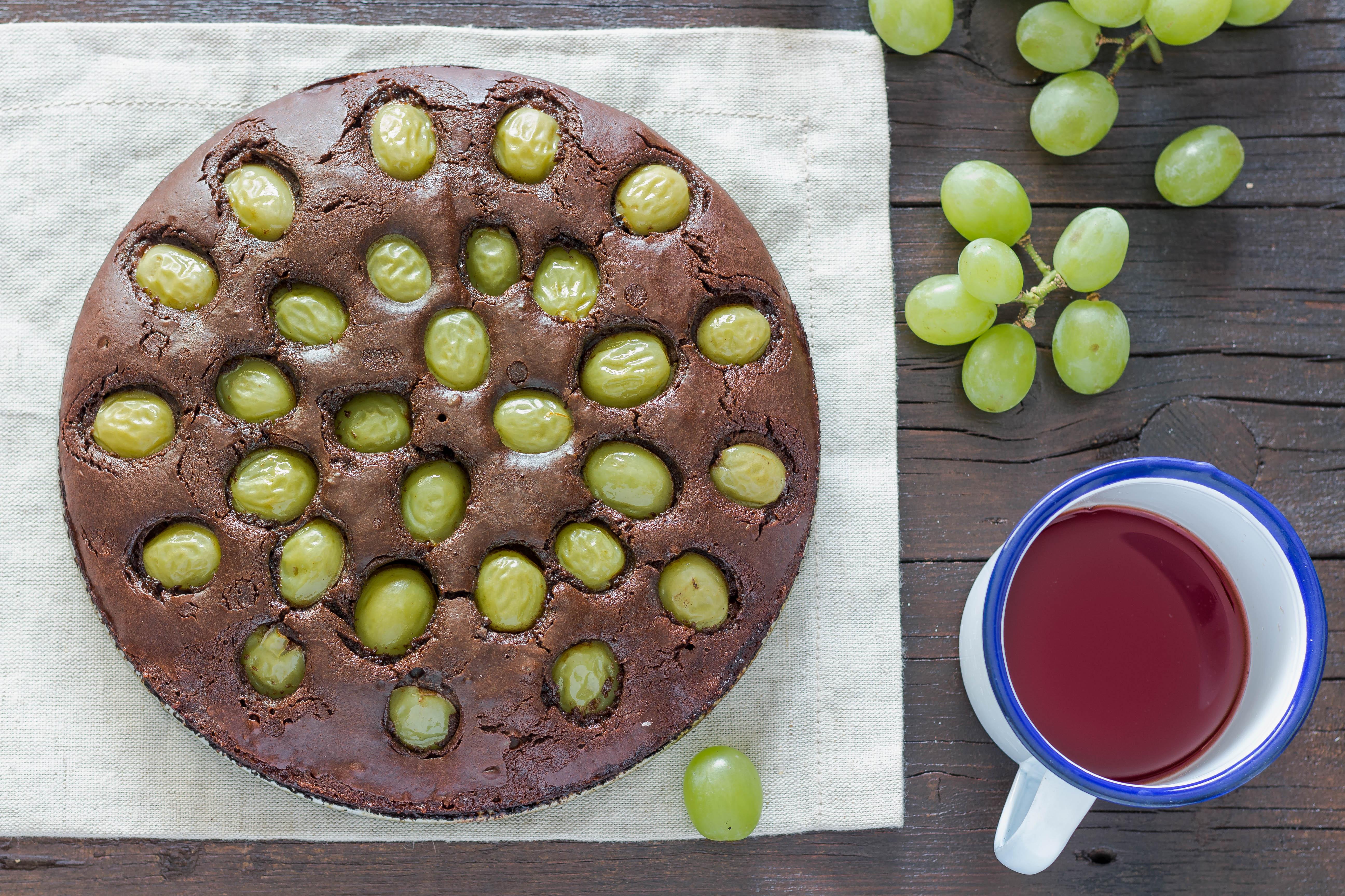Torta ubriaca con uva
