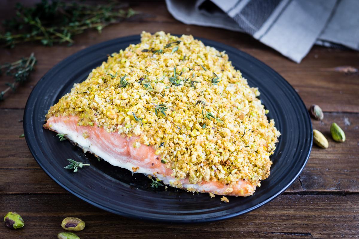 Ricetta Salmone Con Pistacchi.Salmone In Crosta Di Pistacchi Ricetta Facile E Veloce Delle Feste