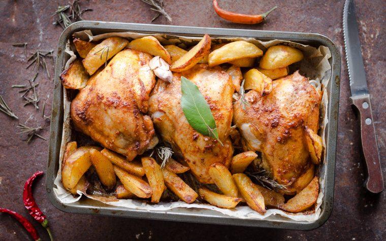 Pollo e patate alla diavola