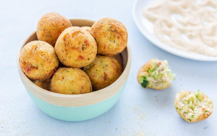 Crocchette di patate con zucchine e prosciutto cotto