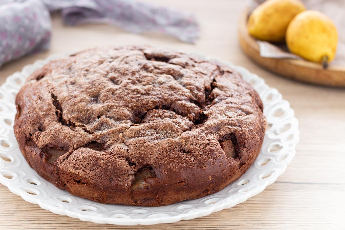 Torta Morbida con Pere e Cioccolato