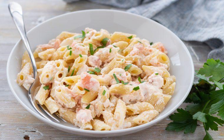 Pasta con crema di salmone