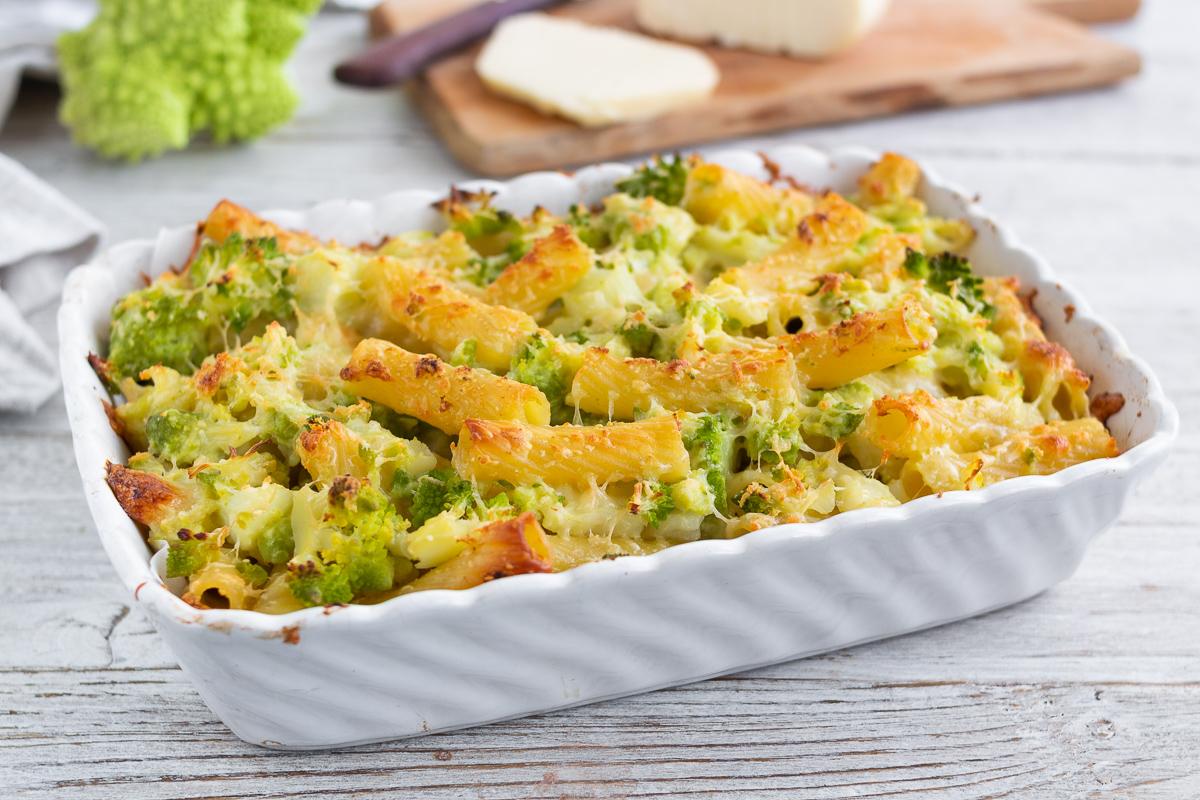 Pasta Gratinata con Broccoli e Provola