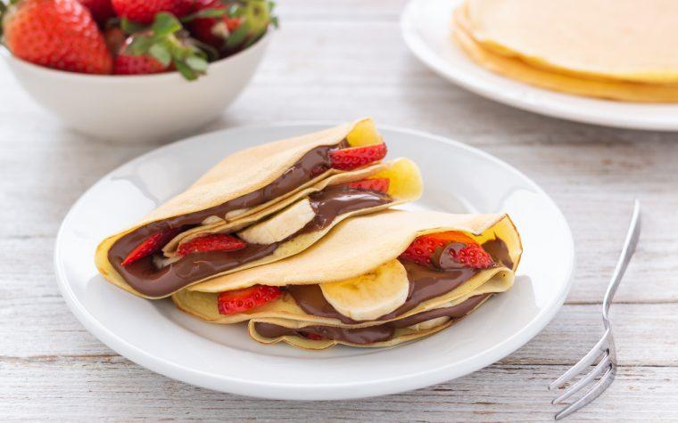 Crepes alla nutella fragole e banana