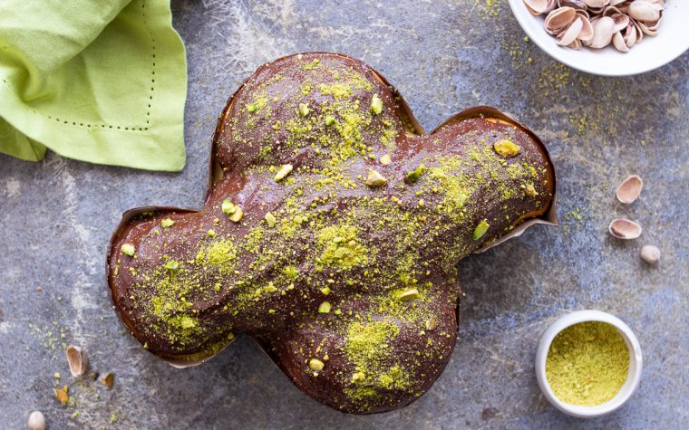 Colomba al cioccolato e pistacchio
