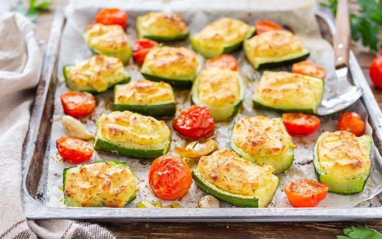 Zucchine farcite con ricotta e tonno
