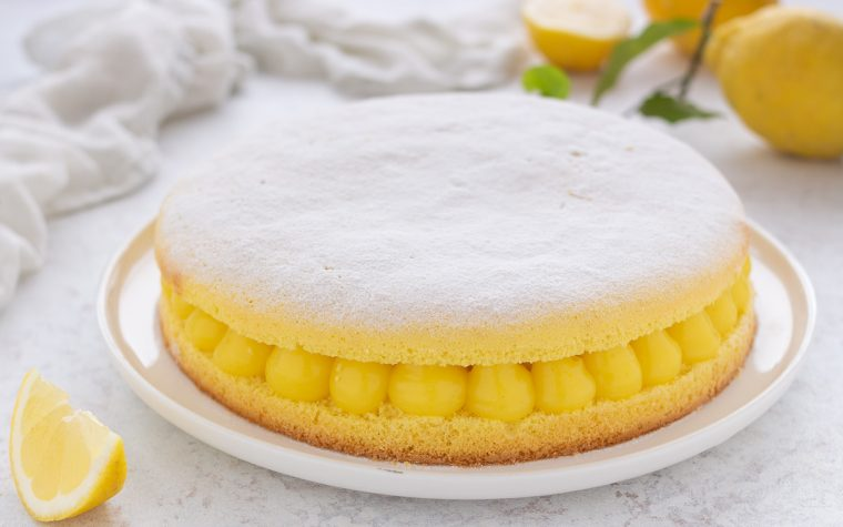 Torta al limone e vaniglia
