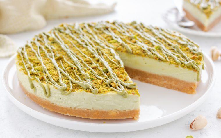 Cheesecake al cioccolato bianco e pistacchio