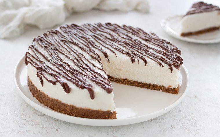 Torta gelato cocco e nutella