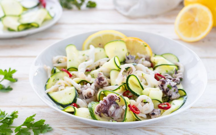 Insalata di seppia e zucchine marinate