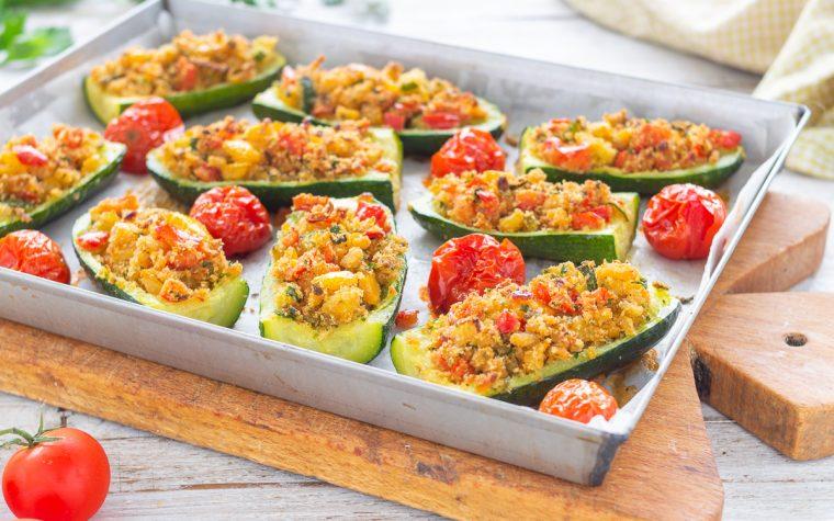 Zucchine gratinate  e pomodorini