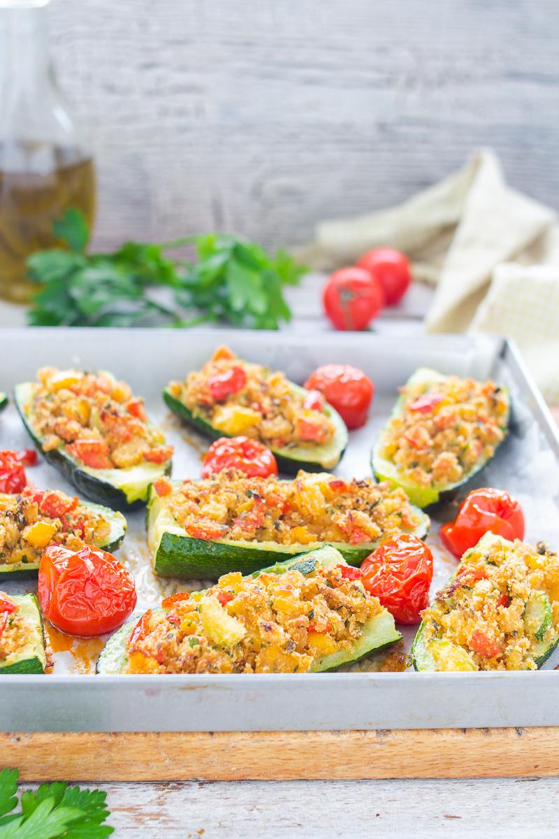 Zucchine gratinate e pomodorin