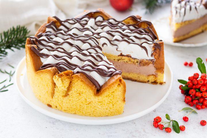 Torta di pandoro con crema al mascarpone e nutella