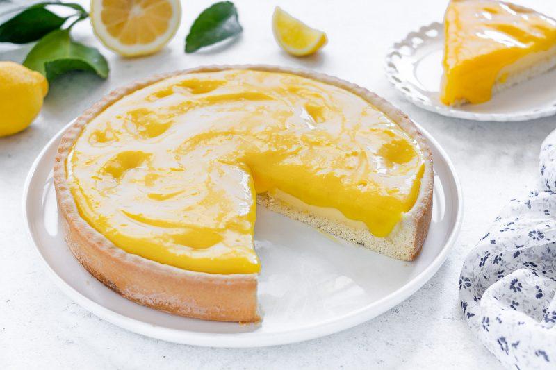 Crostata alla crema e lemon curd