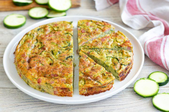 Frittata al forno con zucchine e prosciutto