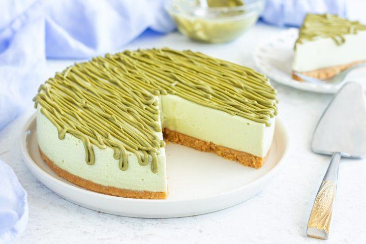 Cheesecake al pistacchio e mascarpone
