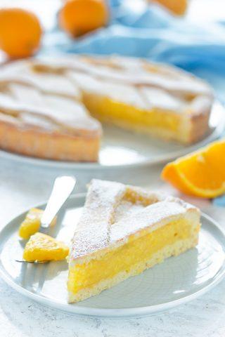 Crostata alla crema all'arancia